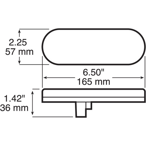 LED421R7 --- Oval Sealed LED Tail Light- 7 Diodes