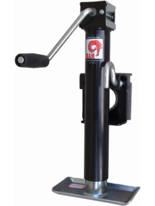 RAM151101 --- RAM Swivel Sidewind Trailer Jack with Disc Foot - 3,000 lb Capacity