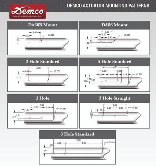 DA7095BZ --- Demco Hydraulic Brake Actuator with Centered Channel - 8,000 lb Capacity - Model DA91