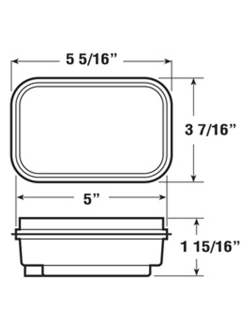 "450KA --- Retangular 3"" x 5"" Sealed Turn Light Kit - Amber"