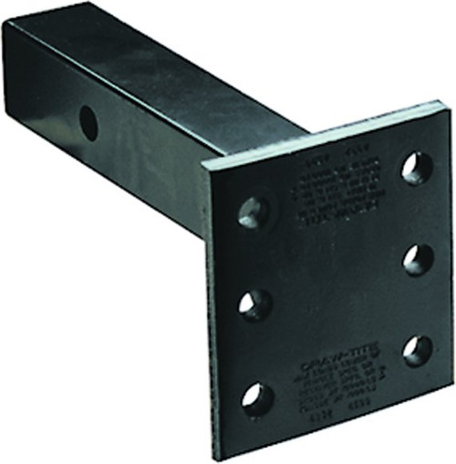 6572 --- Receiver Mounted Pintle Hook Adapter w/Long Shank - 6 Holes - 14,000 lb Capacity