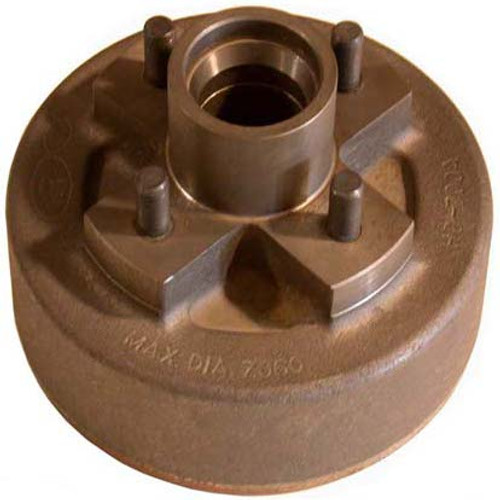 """BT440HDE --- 4 on 4"""" Hub and Drum for 7"""" Electric Brake"""