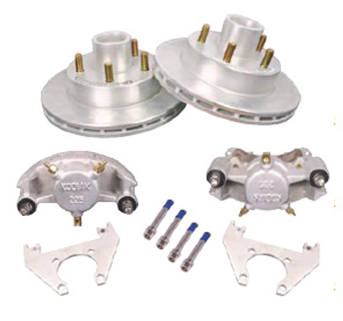 "2/HRCM-10-KIT --- 10"" Kodiak Disc Brake Kit for 3,500 lb axles - 5 on 4-1/2"" - Pair"