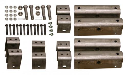 "GSHK3 --- Triple Axle Hanger Kit for 2"" Wide Slipper Spring w/Grease Bolts"