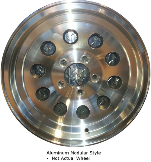 "WH156-655AM --- 15"" x 6"" Aluminum Trailer Wheel"