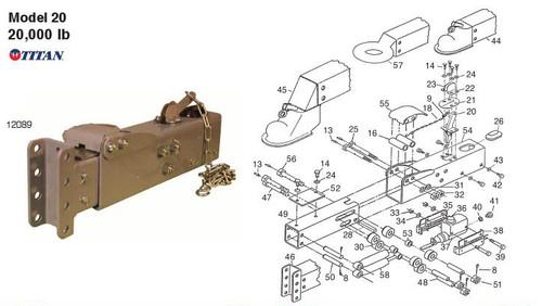 Model 20 - Titan Parts Breakdown by Dexter Marine
