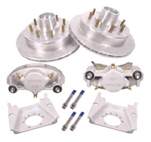 """KOD-133-72-9 --- 13"""" Kodiak Disc Brake Kit for 7,200 lb Dexter Axles Only - 9/16"""" Studs - 8 on 6-1/2"""" - Pair"""