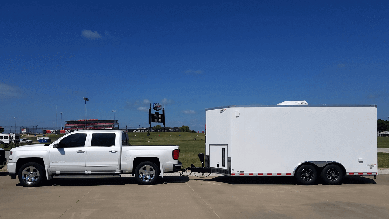 Lucas Oil Speedway Merch Trailer