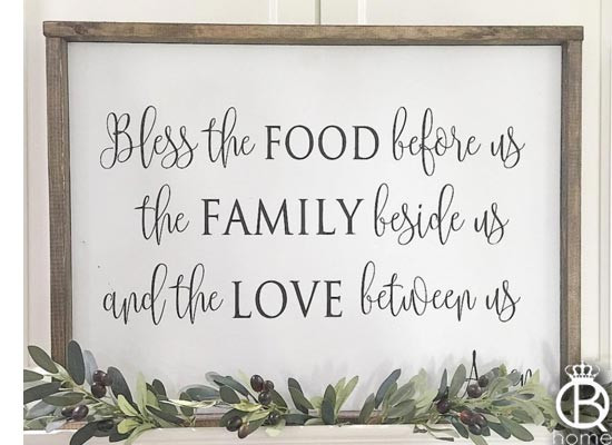 Bless The Food Before Us Wood Sign 36 Quot X16 Quot Queenbhome