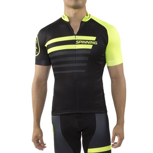 Spinning® Vega Mens Short Sleeve Cycling Jerseys Yellow