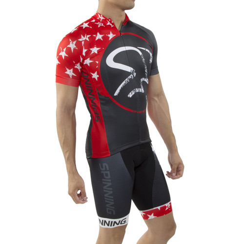 Spinning® Gemini Men's Cycling Shorts Red