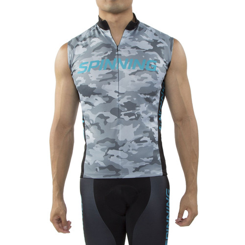 Spinning® Hercules Men's Sleeveless Cycling Jersey Blue