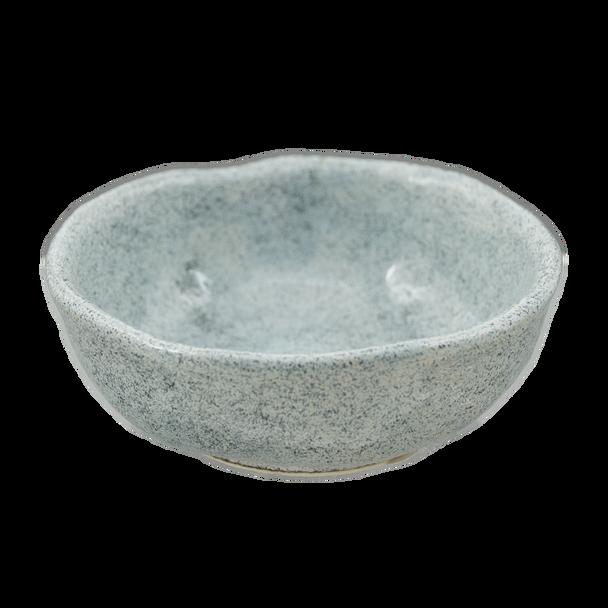 "Speckled Gray Sauce Bowl 3.25""D, Set of 4"