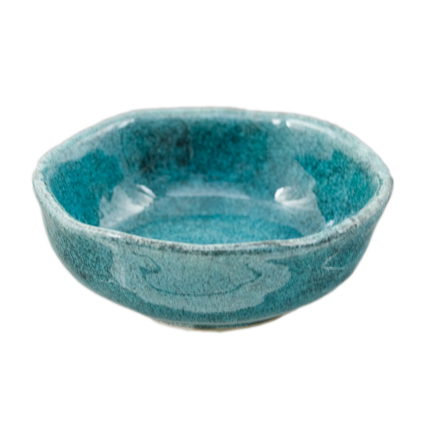 """Speckled Blue Sauce Bowl 3.25""""D, Set of 4"""