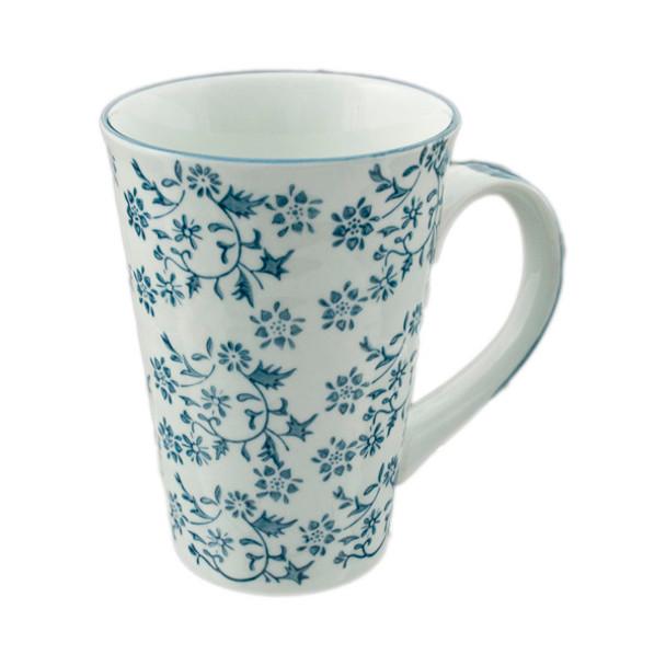 Flowering Porcelain Mug 16oz, Blue Branch