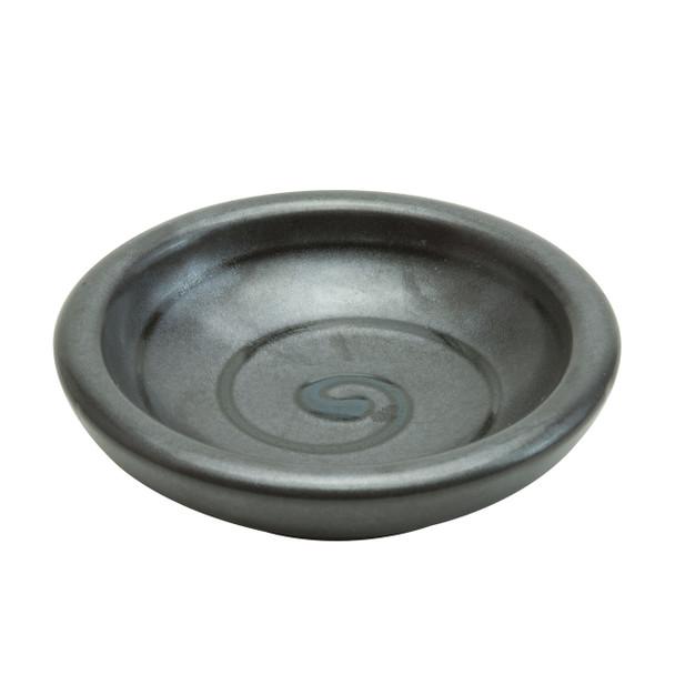 Swirl Sauce Plate Set of 2, Black