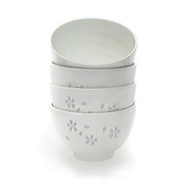 White Sakura Bowls (Set of 4)