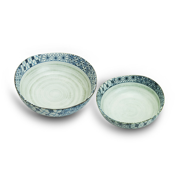 Japanese Traditional Pattern Bowl Set - 2pc