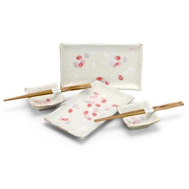 Pink Sakura Sushi Plate Set