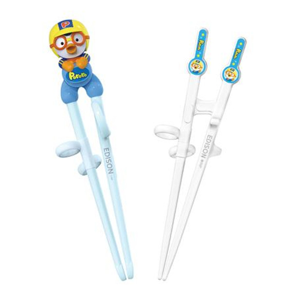 Pororo Edison Kid's Chopsticks 2 Stages Set