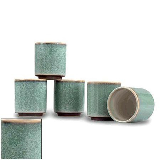 Sea Green Teacups (5 pcs Set)