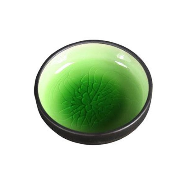 Crackle Sauce Bowl 6 pc set (Green)