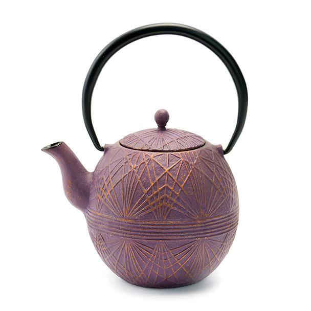 Rikyu Spider-Web Cast Iron Teapot - Purple