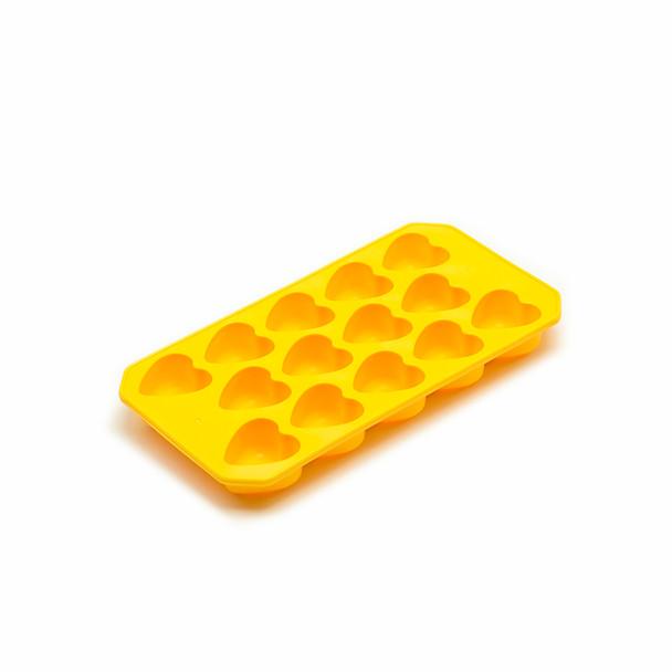 Heart Ice Mold Tray - Yellow