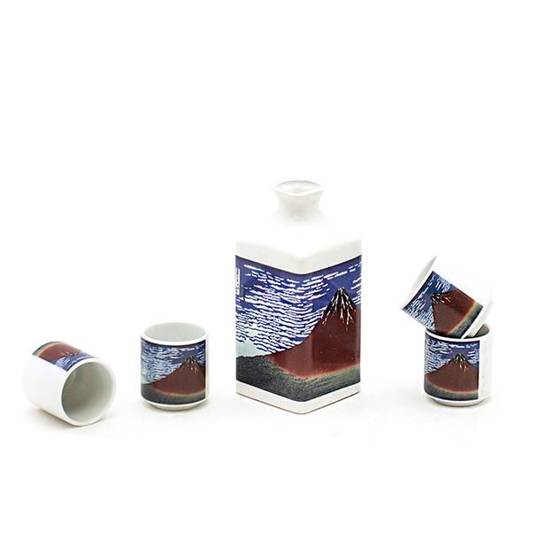 Find Wind Clear Morning Square Bottle Sake Set
