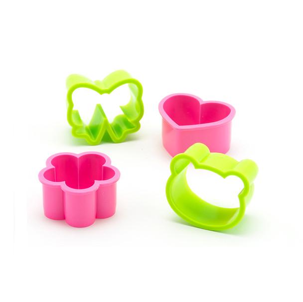 PakuPaku Food Cutter 4pc - Flower, Heart, Bow, Bear