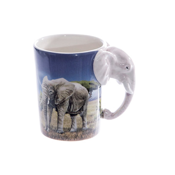 Elephant Shaped 3D Handle Mug