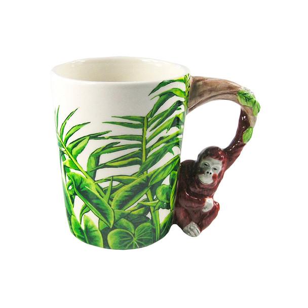 Orangutan Shaped 3D Handle Mug