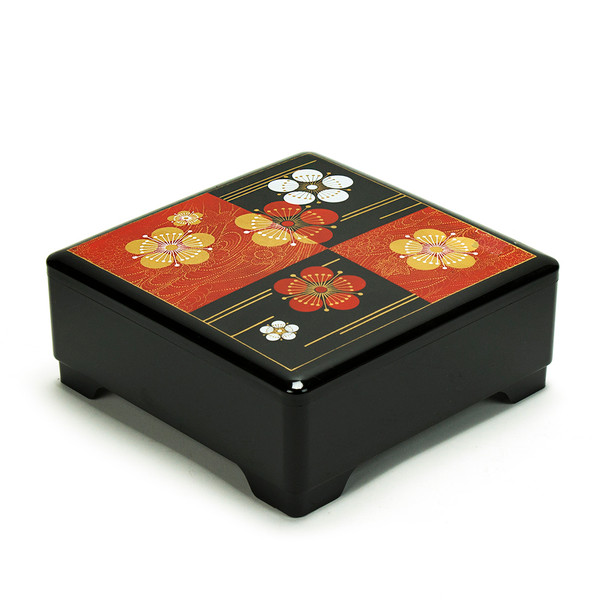 Japanese Lacquer Bento Box Tier – Ume Black