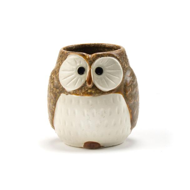 Stony Owl Brown Teacup