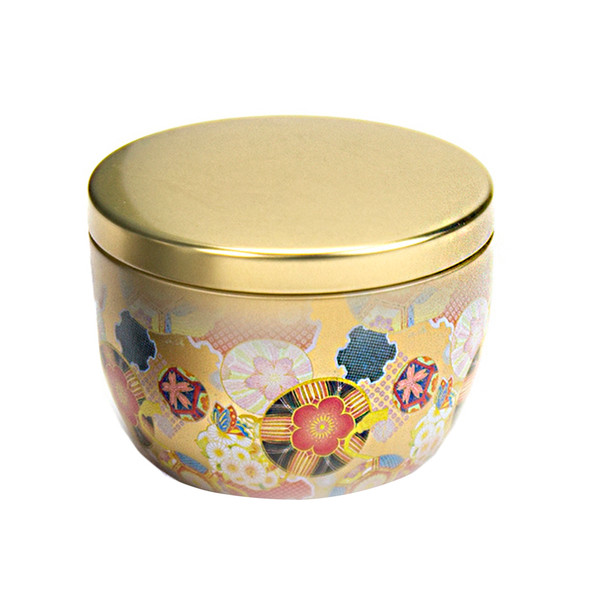 Japanese Loose Tea Canister Gold Festival
