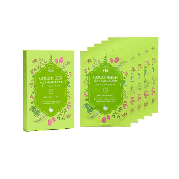VIA Face Mask Sheet - Cucumber (5 pc)
