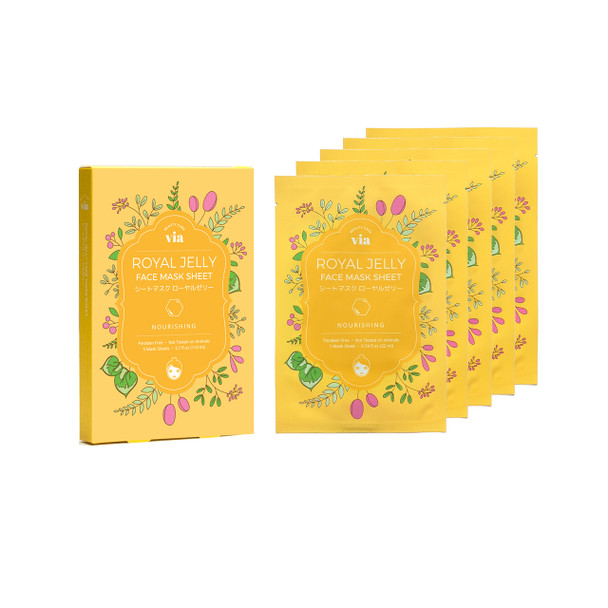 VIA Face Mask Sheet - Royal Jelly (5 pc)