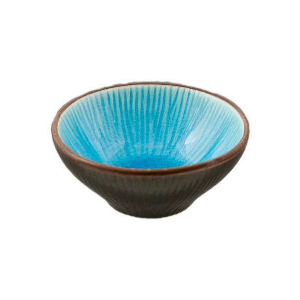"""Two Tone Reactive Glaze Blue Sauce Bowl 2.75""""D, Set of 4"""