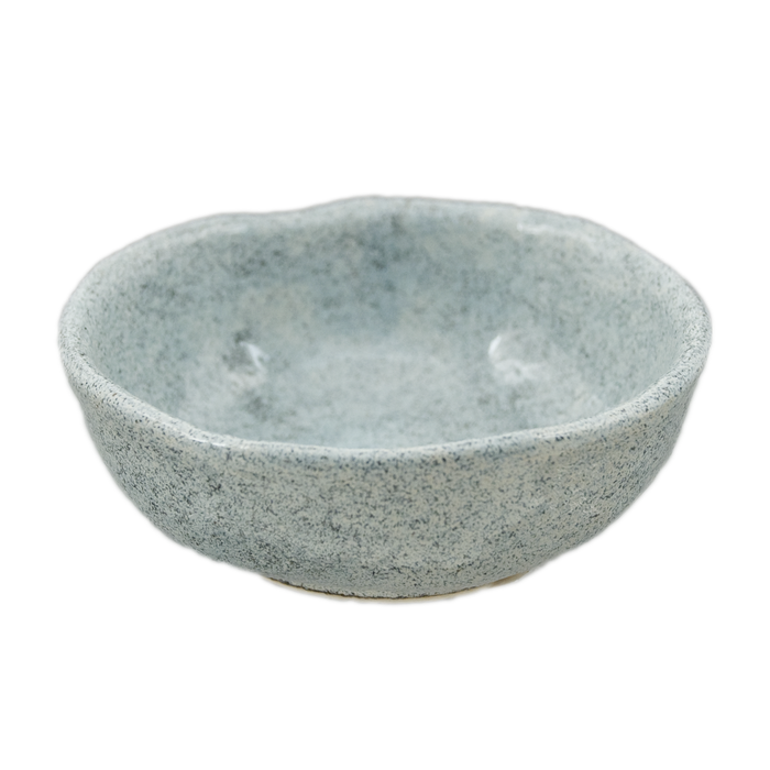 "Speckled Gray Sauce Bowl 3.25""D, Set of 4"