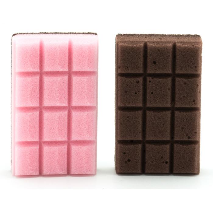 Chocolate Bar Shape Fun Kitchen Sponge 2pc