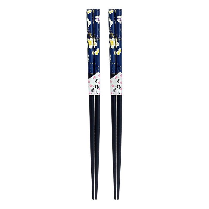 Navy Petite Blossom Chopstick 2pc Set