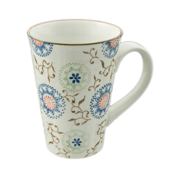 Flowering Porcelain Mug 16oz, Helen