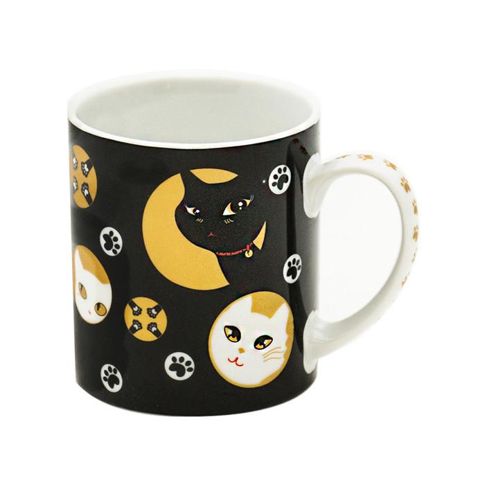 Mischievous Kitty-Cat Black Mug