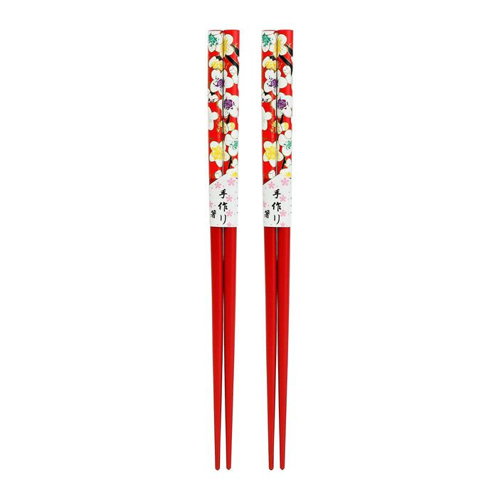 Red Petite Blossom Chopstick 2pc Set