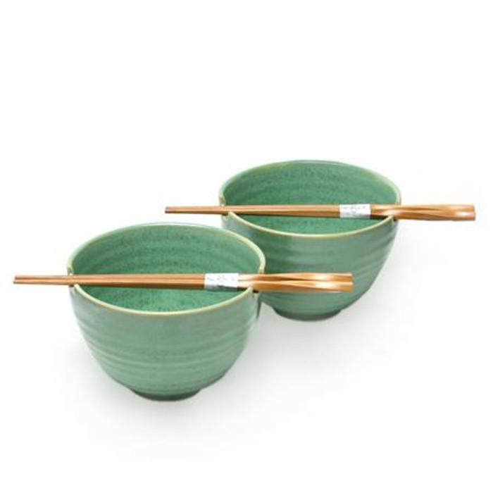 Jade Green Bowl Set