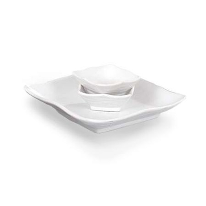 White Feather Plate Set