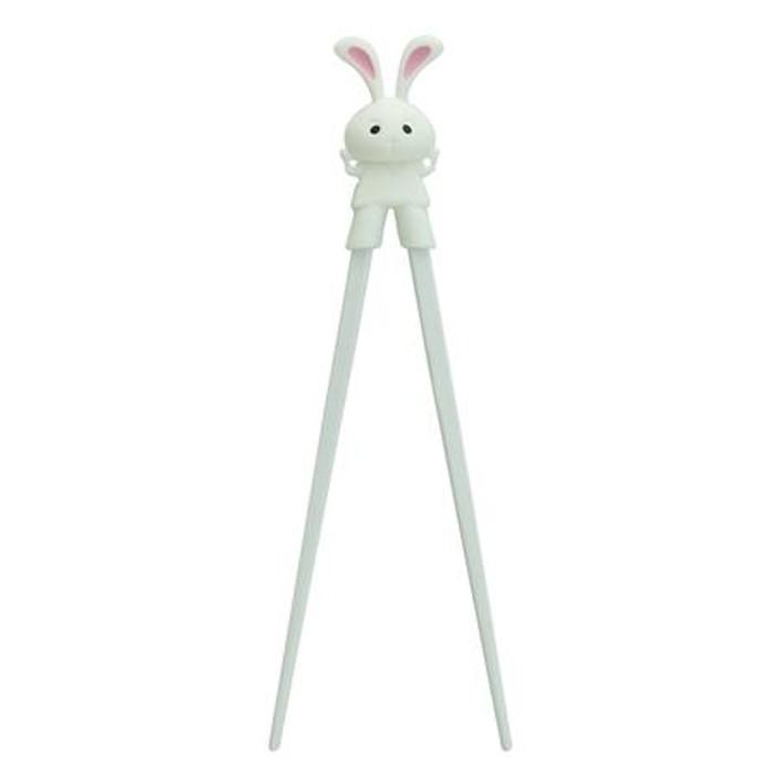 Kids Rabbit Chopsticks - White