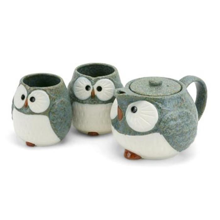 Stony Owl Tea Set (Grey)