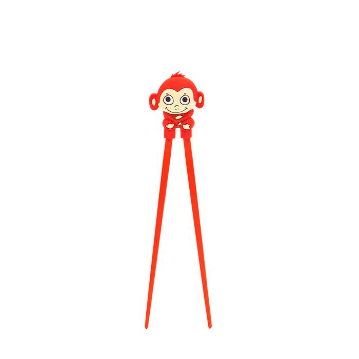 Red Kid's Monkey Helper Chopstick