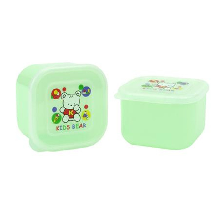 Green Kid's Bear Container for food storage 2pcs